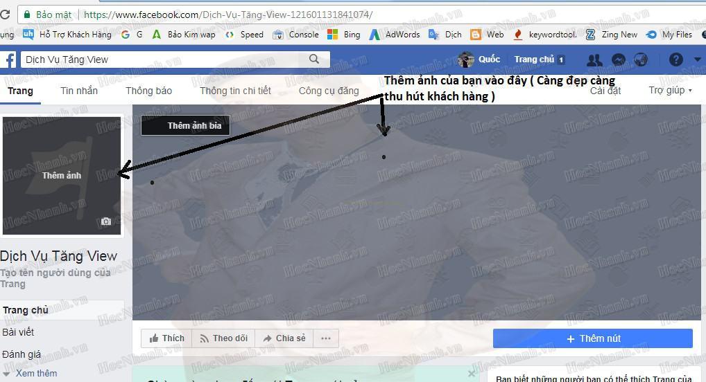 tạo fanpage trên facebook nâng cao