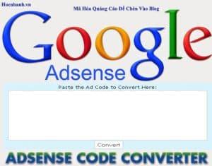 Google adsense converter