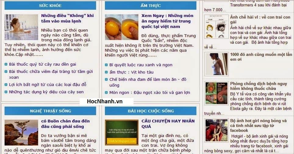 mau blog tin tuc chuan seo dep va nhe