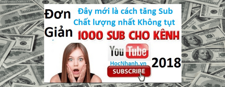 Cach mua va tang Sub Youtube hieu qua