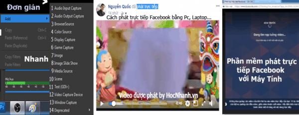 Huong dan cach phat truc tiep Facebook bang Phan mem OBS tren may tinh