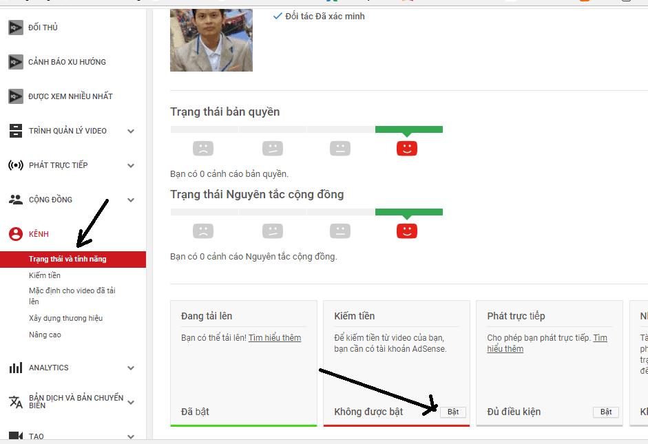 Bat kiem tien cho Kenh Youtube