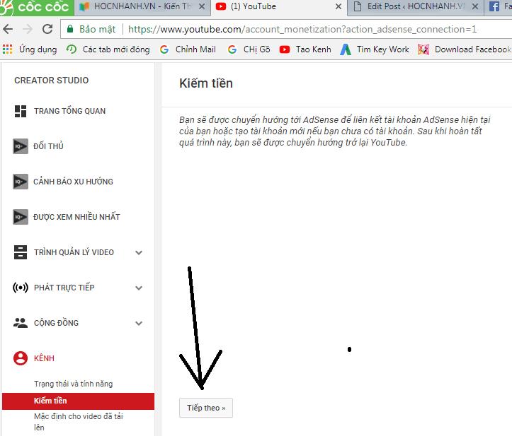 Dang ky kiem tien Youtube