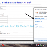 Cách cài cấu hình Modem ToTo Link Chi tiết