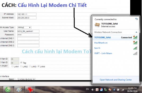 Cach Cau Hinh Modem ToTo Link Model No.F1