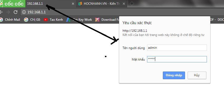 Nhap ten Dang Nhap Cho Modeml Toto Link F1