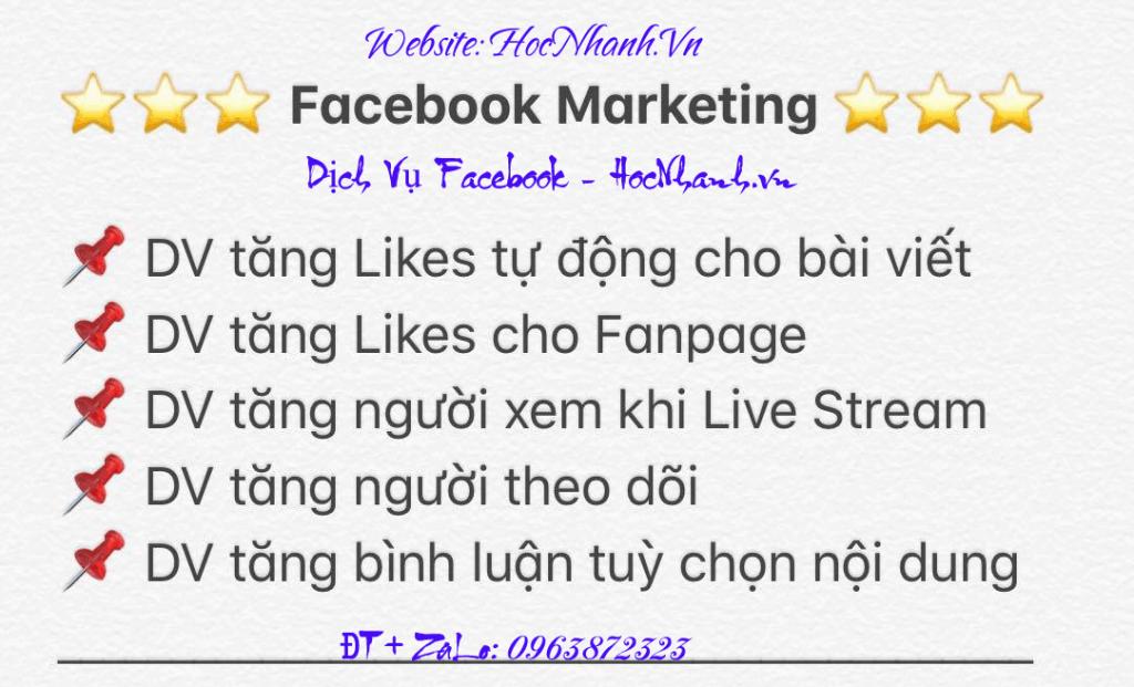 Dich Vu Facebook 2018 va 2019 Uy Tin