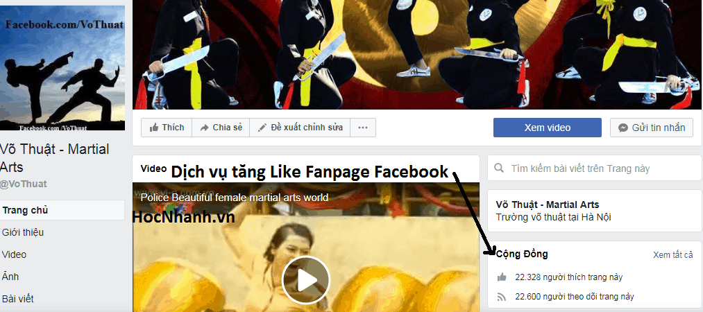 Dich vu tang like Fanpage Facebook Re