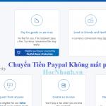 Hướng dẫn cách chuyển tiền Paypal không mất phí