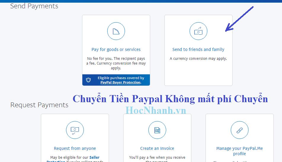 Huong dan Cach chuyen tien Paypal khong mat phi