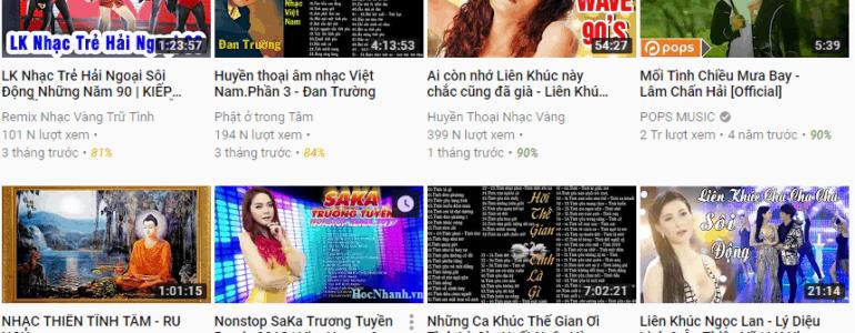 Phan tich chu de va Xu huong Video Youtube