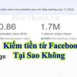 Cách Kiếm tiền trên Facebook Đang Hot