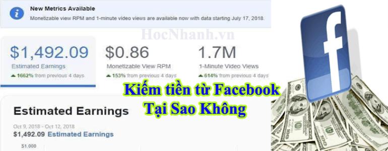 Cach Kiem tien tu Fanpage Facebook Mới