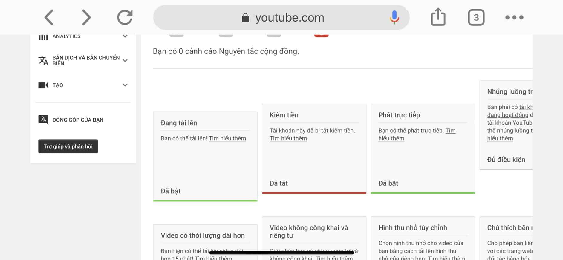 Sua loi tat kiem tien do trung Adsense Youtube