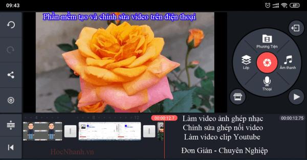 Phan mem lam video tren dien thoai dang Youtube