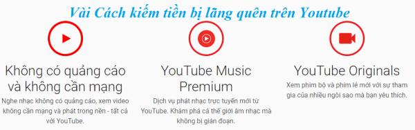 Các cach kiem tien moi tren Youtube