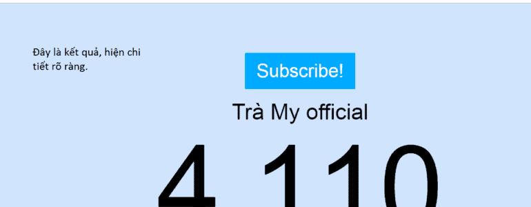 Cach xem số sub Youtube cụ thể