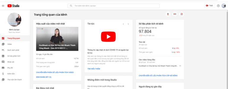 Giao Dien Youtube Studio Moi