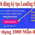 Hướng dẫn đăng ký tạo Landing Page miễn phí